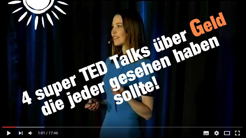 4 inspirierende TED Talks über Geld